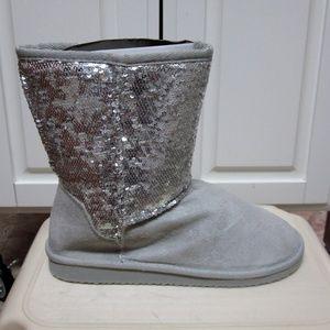 NEW WOMEN'S SODA BLING-S SEQUIN FASHION boot-silve